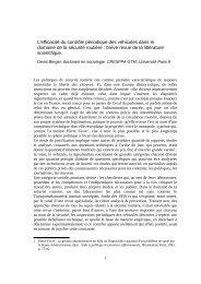 L'efficacité du contrôle périodique des véhicules dans le ... - Ffmc
