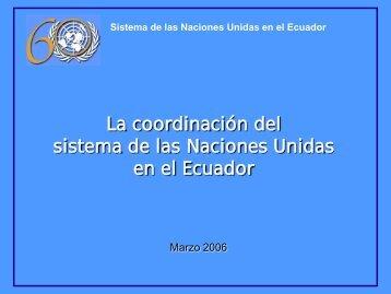 Sistema de las Naciones Unidas en el Ecuador