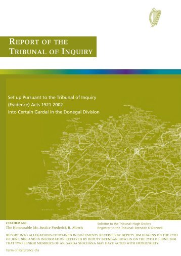 REPORT OF THE TRIBUNAL OF INQUIRY