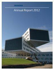 Annual Report 2012 - Skanska