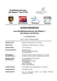 Qualifikationsturnier der Region 7 des DTTB Pfalz Rheinhessen ...