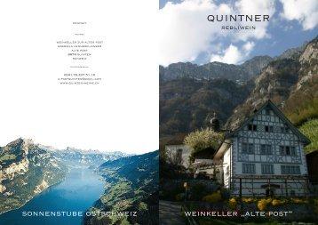 quintner - Weinkeller Alte Post Quinten