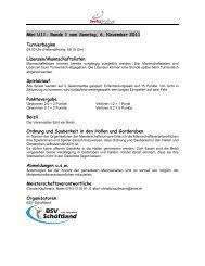 Mini U11- Runde 1 vom Sonntag, 6. November 2011 Turnierbeginn ...