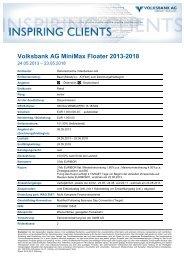 FRN – Reverse FRN mit Floor - Volksbank
