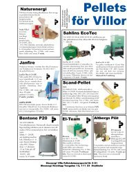 Marknadsöversikt pelletsbrännare och pelletspannor - Novator