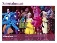 Entertainment – Short Credentials - Fairfax Media Adcentre