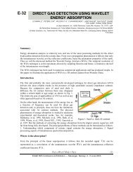 e-32 direct gas detection using wavelet energy absorption