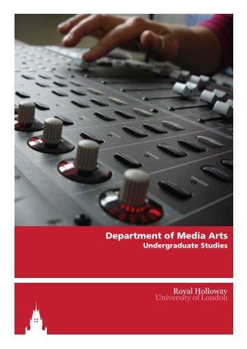 Department of Media Arts - Royal Holloway, University of London