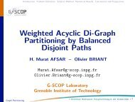 Weighted Acyclic Di-Graph Partitioning by Balanced Disjoint ... - gerad