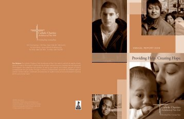 Providing Help. Creating Hope. - Catholic Charities Annual Report