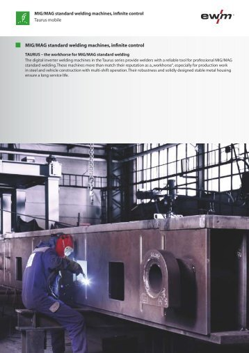 MIG/MAG standard welding machines, infinite ... - Ewm-sales.co.uk