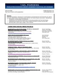 resume YP cell only9.13 - Themed Entertainment Association