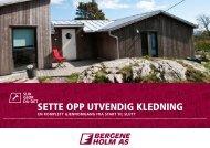SETTE OPP UTVENDIG KLEDNING - Bergene Holm
