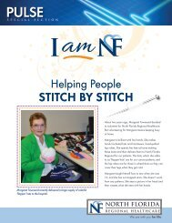 STITCH BY STITCH - North Florida Regional Medical Center