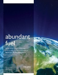 NG Abundant fuel - Encana