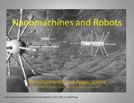 Nanomachines and Robots
