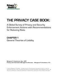 THE PRIVACY CASE BOOK: A Global Survey of ... - Privacy Studio