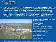 The Durability of Poly(Methyl Methacrylate) Lenses Used in - NREL