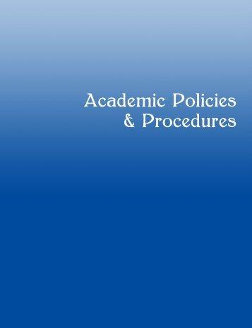Academic Policies & Procedures - Cuyamaca College
