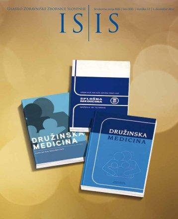 ISIS - December 2012 - Zdravniška zbornica Slovenije