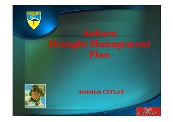 Ankara Drought Management Plan by Dr. Ceylan