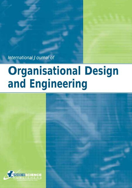 Organisational Design and Engineering - Inderscience Publishers