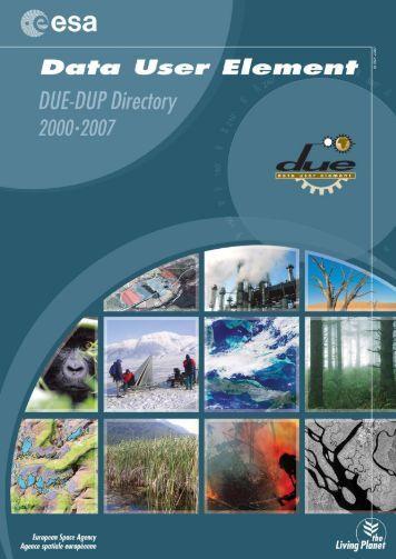 DUE directory 2007 - Data User Element - ESA