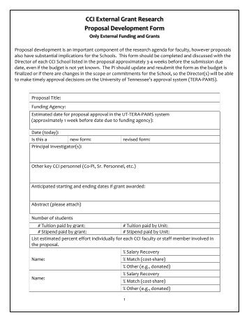 Grant Proposal Development Form Mercy College