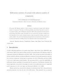 Multivariate mixtures of normals with unknown ... - ResearchGate