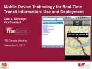 Mobile Device Technology for Real-Time Transit ... - (ITS) Canada