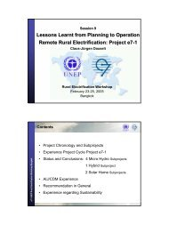 Lessons Learnt from Planning to Operation Remote Rural ...