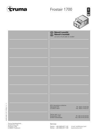 frostair 1700 truma. Black Bedroom Furniture Sets. Home Design Ideas