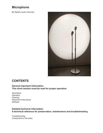 Microphones's manual - Rafael Lozano-Hemmer