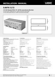 InstallatIon · Manual 5.0670.12.72 1/2 - Wibre