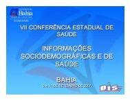 INFORMAÇÕES SOCIODEMOGRÁFICAS E DE SAÚDE ... - Sesab