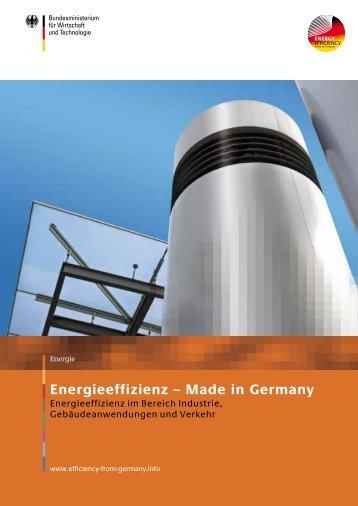 Energieeffizienz – Made in Germany - Exportinitiative Energieeffizienz