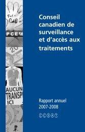 Rapport général annuel 2008 - Canadian Treatment Action Council