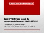 Opgørelse af HPV på ASCUS med endelig diagnosefordeling