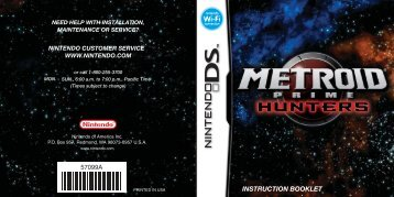 Metroid Prime Hunters Manual - Nintendo