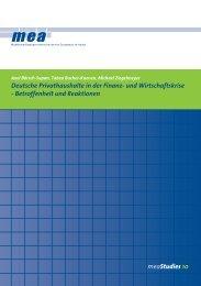 meaStudies 10 Deutsche Privathaushalte in der Finanz ... - Das Mea