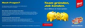 Team gründen, Job künden. - Swisslos