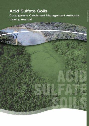 Acid Sulfate Soils - Corangamite Catchment Management Authority