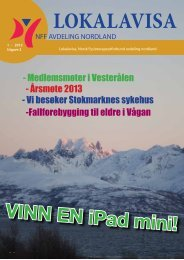 Lokalavisa 1 2013 A4c.pdf - Norsk Fysioterapeutforbund