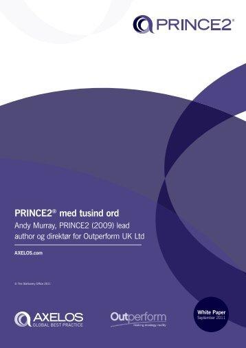 PRINCE2® med tusind ord - Best Management Practice