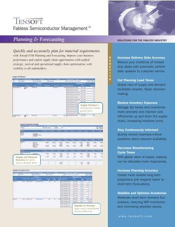 Tensoft FSM: Planning & Forecasting