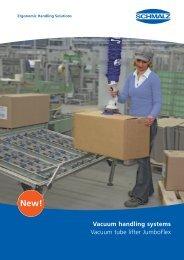 Vacuum handling systems Vacuum tube lifter JumboFlex - Ferret