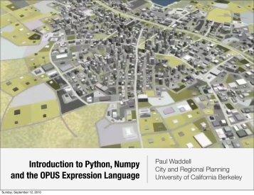 OPUS Expression Language - UrbanSim