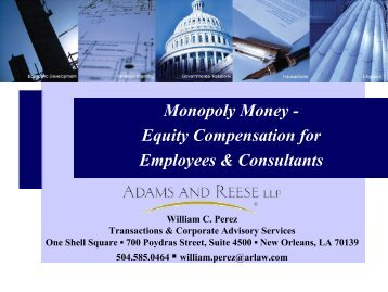 Securities Law Issues - Adams and Reese LLP