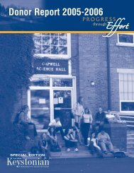 Donor Report 2005-2006 - Keystone College