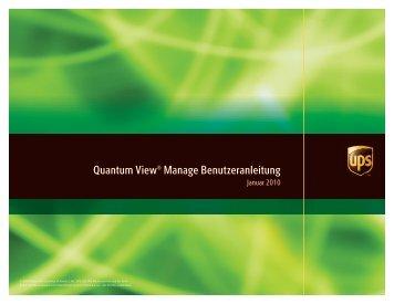 Quantum View Manage Benutzeranleitung